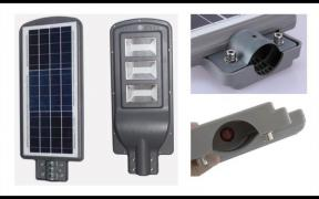 Solar LED floodlight (made in Germany)