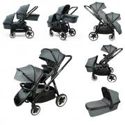 Super-stylish Stroller for twins and pogodak 2 in 1 BabyZz DYNASTY